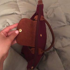 Longchamp Bags - Longchamp burgundy tote. Like new. Folds up.